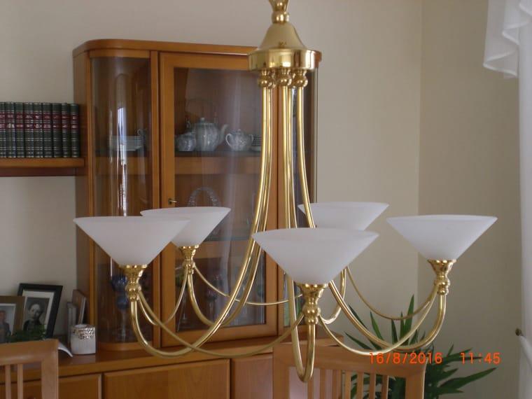 Hochwertige Wohnzimmerlampe Vergoldet Haverlah